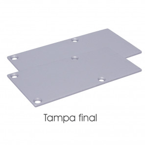 EKPF71C - Tampa final para perfil EKPF71