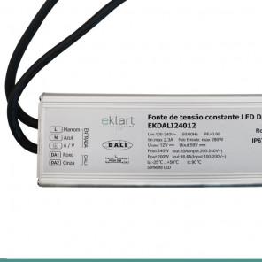 Fonte de alimentação 12V 16,6A 200W Bivolt - Protocolo DALI IP67