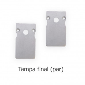 EKPF101C - Tampa final para perfil EKPF101