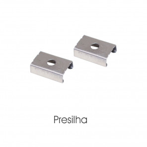 EKPF12SLS - Presilha para perfil embutir EKPF12SL
