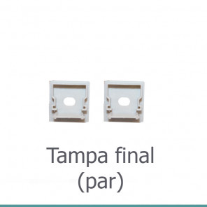 EKPF80C - Tampa final para perfil EKPF80